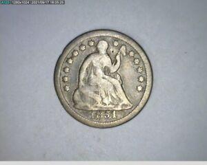 1851 O  Half Dime Seated Liberty ( 62-358 9m1 )