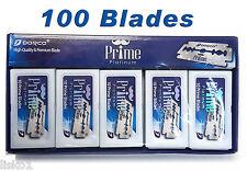 Dorco Prime Platinum Safety Razor Blades (10 PACKS OF 10 BLADES)