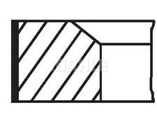 MAHLE ORIGINAL Piston Ring Kit 016 02 N0