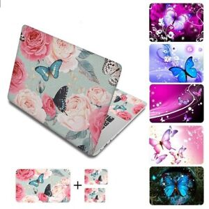 Laptop Computer Skin Sticker Butterfly Flowers Decal Cover For HP Lenovo Dell