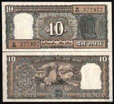 INDIA 10 RUPEES P69 1969 COMMEMORATIVE BRA SGN MAHATMA GANDHI UNC MONEY BANKNOTE