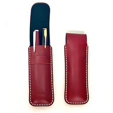 Omega Genuine Leather Pen Pouch. Leather Pen Case  Accessories For Business Man