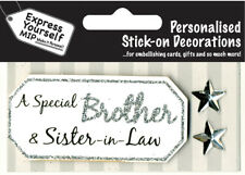 Silver Brother & Sister-In-Law DIY Greeting Card Toppers Personalise Cards Yours