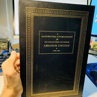 Easton Press Abraham Lincoln Handwritten Autobiography For Chicago Press
