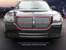 Fedar Upper Billet Grille For 05-07 Dodge Magnum Except SRT8 (Vertical)-Polished