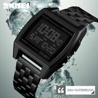 SKMEI Watch Waterproof Luxury Mens Sport Watches LED Digital Military Wristwatch