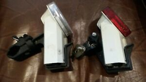 VINTAGE EVER READY 1980s/90s FRONT AND REAR BIKE LIGHTS WITH BRACKETS (NO. 2)