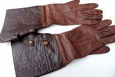 "GERMAN LUFTWAFFE LEATHER Gloves Pilot Aviation WWII WW2 ""Real Nappa"""