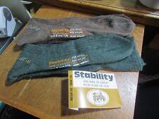 STABILITY Mens long socks UNUSED vintage 1970's UK shoe size 8, Wool nylon x 2