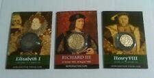 Set di 3 MONETE riproduzione-Elizabeth Richard 1, 111 e Henry MONETE V111