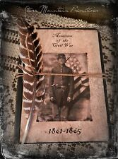 Primitive Civil War Soldier Colonial Journal Cupboard Tuck