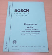 Bosch Elektromotoren für Wagenheizer KM RCA Ersatzteilliste Heizer Heizung