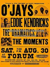 """Ojays / Moments Forum 16"""" x 12"""" Photo Repro Concert Poster"""