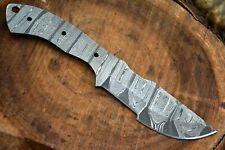 Custom Damascus Steel Blank Blade Tracker Hunting Knife Handmade (L710-A)