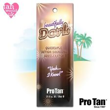PRO TAN BEAUTIFULLY DARK SUN BED TANNING UVA ACCELERATOR LOTION - 22ml Sample
