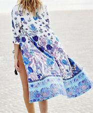 Nwt FUNKY STUFF floral kimono rayon ROBE TOP DUSTER COVERUP fits XL 1X 2X 3X