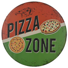 "PIZZA ZONE METAL TIN SIGNS 12"" X 12"" Wall Hanging Plaque Restaurant Decor"