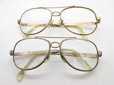 SET of 2 B&L Bausch & Lomb 1/30 10K GOLD FILLED Aviator Eyewear FRAMES TV6 S15