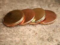 Handmade Vintage Pure Copper & Brass Coasters Set 4 For Drinks Coasters Solid