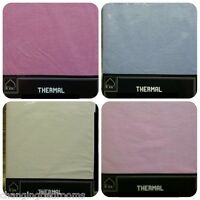 DOUBLE BED WINTERWARM THERMAL FLANNELETTE FITTED SHEET CHOICE OF VARIOUS COLOURS