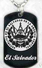 EL SALVADOR FLAG - Dog tag Necklace/Key chain + FREE ENGRAVING