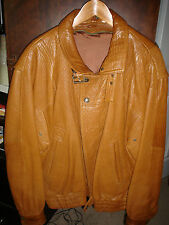 Incredible High End ---MARCO PIERGUIDI Honey Tan Leather Jacket--Large--- ITALY