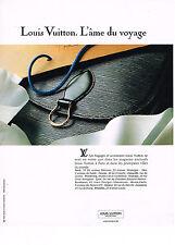 PUBLICITE ADVERTISING 034  1991   LOUIS VUITTON   bagages  accessoires