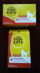 Tidy Cats Litter Box Liners Heavy Duty Tear Resistant 15 Liners SEALED 12 CT. +
