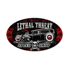 Lethal Threat Hot Rat Rod Old School Custom Pinstriping Retro Blechschild Schild