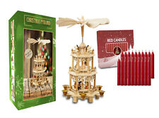 German Christmas Carousel Pyramid windmill Nativity 18in Decoration -20 Candles