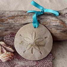 SANIBEL ISLAND Sand Dollar Made with Sand Beach Ornament