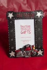 """Motorcycle Bike Picture Frame """"Live to Ride"""" Nwt Deco 4 x 6 Photo"""
