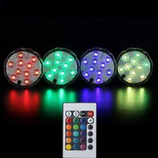10 LED Multi-Colour Submersible Base Fish Tank Pool Spa Bath Floating Waterproof