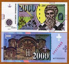 Macedonia, 2000 Denari 2013, Specimen for official competition, UNC > Type 2