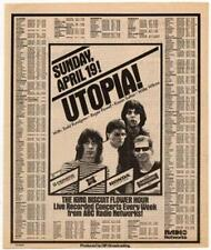 Utopia Todd Rundgren Radio advert 1981 OBLIQUE