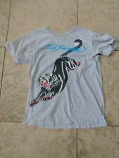 Ed Hardy Black Panther Gray Shirt Medium Size