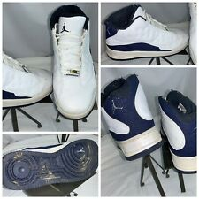 Nike Air Force 1 Jordan 2007 Sz 11.5 Men White Mid-Top Blue Mint Cond YGI I0S-14