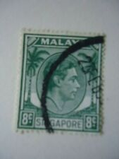 Singapore KGVI 1952 SG21a 8c Green Used