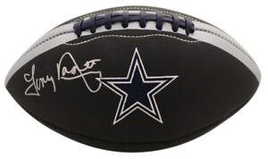 Tony Dorsett Autographed/Signed Dallas Cowboys Black Logo Football JSA 25428