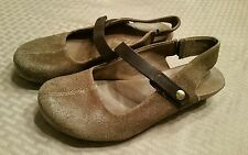 OTBT Springfield Sling back Clog Women's Brown  Leather Womens Size 8.5M Sandals