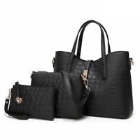 Casual Tote Bags Ladies Pouch Leather Purse Handbag Large Women Shoulder Bag Set