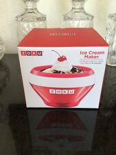 ZOKU Ice Cream Maker NIB Red