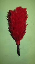 Plumet rouge casque Cuirassier, Dragon, Pompier,hauteur 17,5 cm, belle copie..