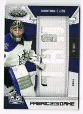 2010-11 Certified Fabric of the Game NHL Die-Cut Prime Patch Jonathan Quick /10