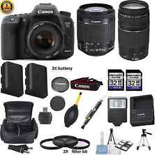 Canon EOS 7D II Digital SLR Camera with lens (MK 2 Mark II DSLR) WITH PKG DEAL