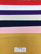 "Zweigart Aida 8 Count Fabric Fat Quarter 18/"" x 21/"" Cross Stitch 4 Colors"