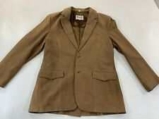 Scully Mens 42 L Suede Leather Western Coat Blazer Jacket Brown 2 Button Suit