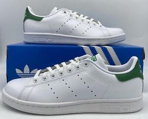 (M20324) Adidas Mens Originals Stan Smith White/Green Retro