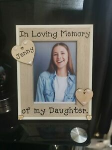 Personalised In Loving Memory photo picture frame Rememberance. Any Wording