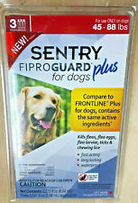 Sentry Fiproguard Plus For Dogs 45-88lbs 3pk  New sealed Pkg.